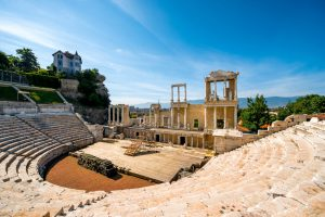 Roman theatre of Philippopolis in Plovdiv, Bulgaria